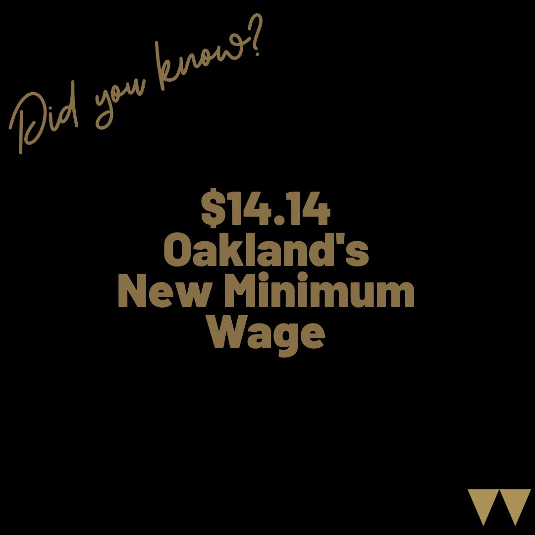 $14.14 Oakland's New Minimum Wage